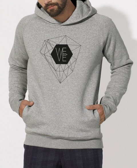 WEVE Hoodie Crystal Men Heather Grey (Black)