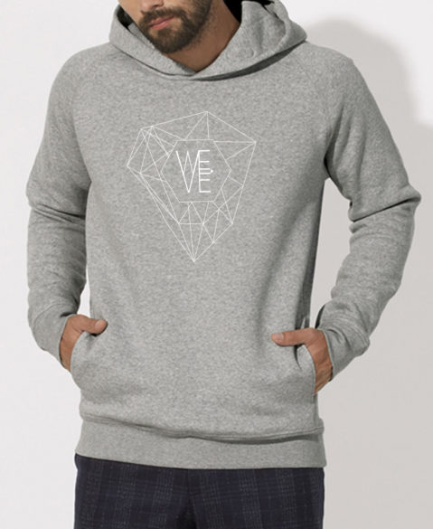 WEVE Hoodie Crystal Men Heather Grey (White)