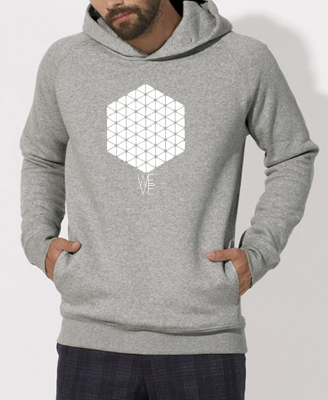 WEVE Hoodie Hive Men Heather Grey (White)