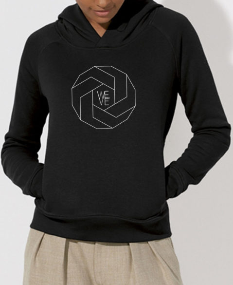 WEVE Hoodie Polygon Woman Black