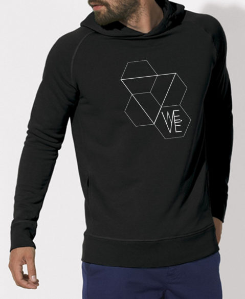 WEVE Hoodie Triangle Men Black