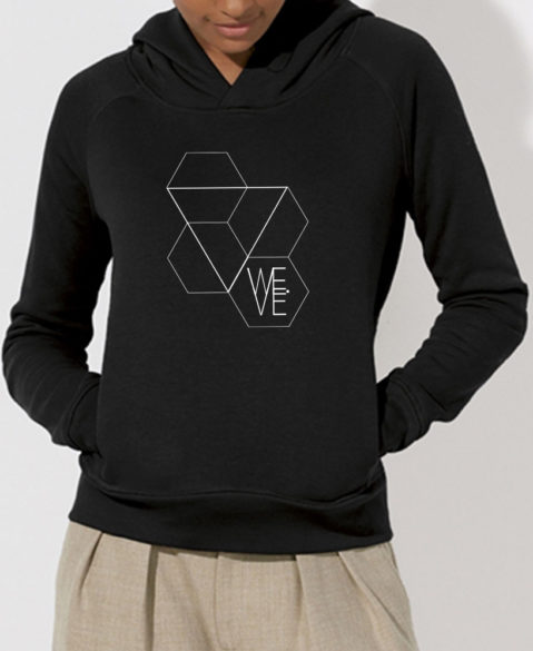 WEVE Hoodie Triangle Woman Black