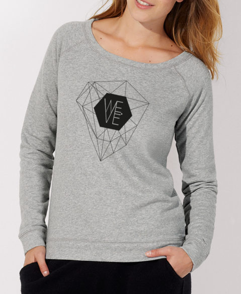 WEVE Sweater Crystal Woman Heather Grey (Black)