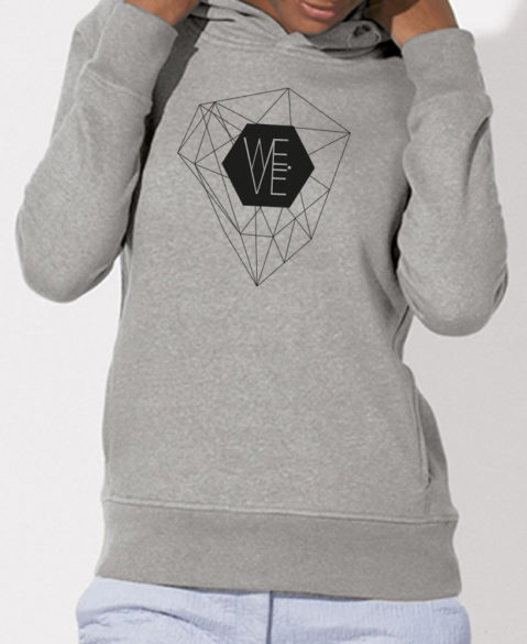 WEVE Hoodie Crystal Woman Heather Grey (Black)