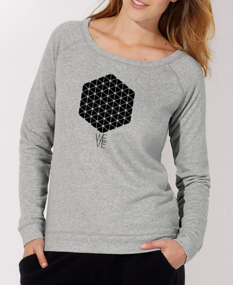 WEVE Sweater Hive Woman Heather Grey (Black)