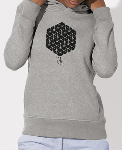WEVE Hoodie Hive Woman Heather Grey (Black)