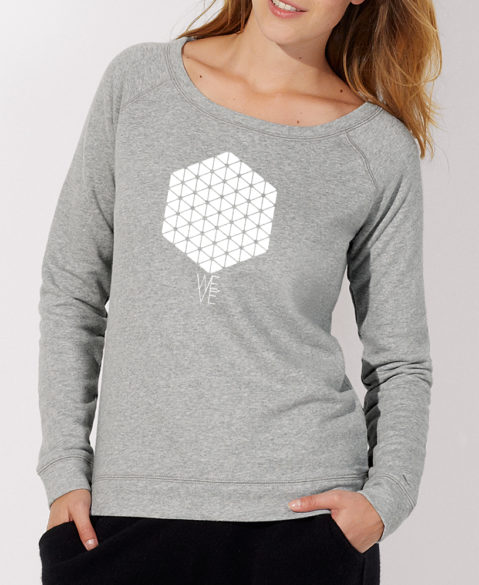 WEVE Sweater Hive Woman Heather Grey (White)