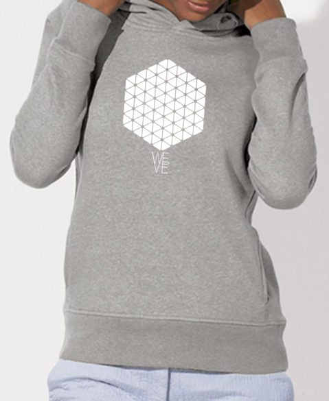 WEVE Hoodie Hive Woman Heather Grey (White)