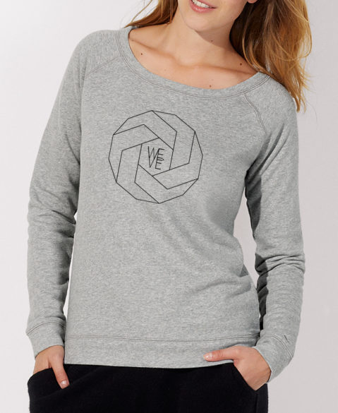 WEVE Sweater Polygon Woman Heather Grey (Black)