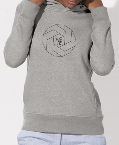WEVE Hoodie Polygon Woman Heather Grey (Black)