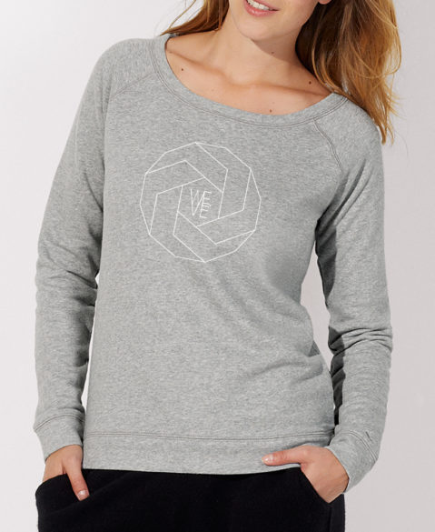WEVE Sweater Polygon Woman Heather Grey (White)