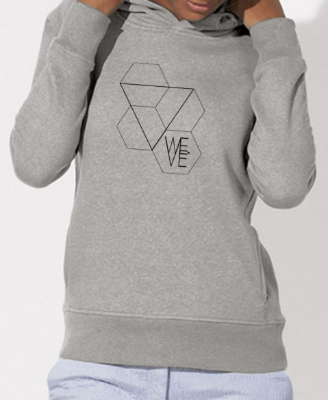 WEVE Hoodie Triangle Woman Heather Grey (Black)