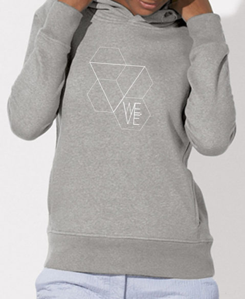 WEVE Hoodie Triangle Woman Heather Grey (White)